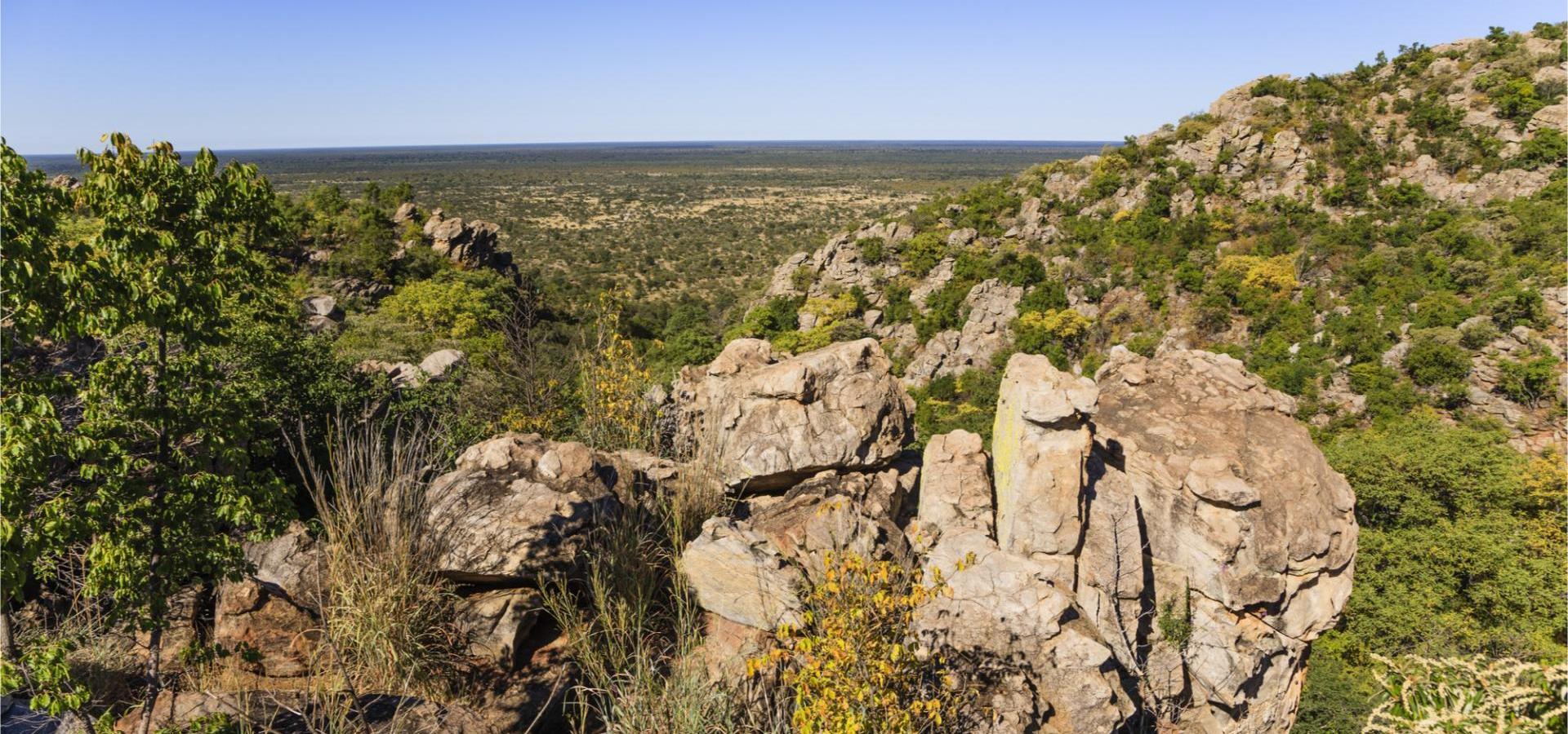 Panorama der Tsodilo Hills, Weltkulturerbe der UNESCO in Botswana