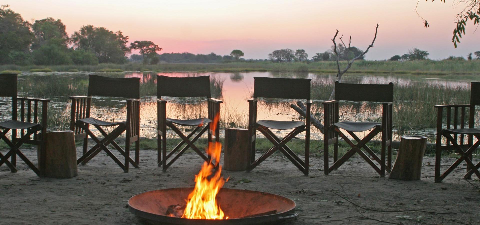 Campfeuer Okavango Delta