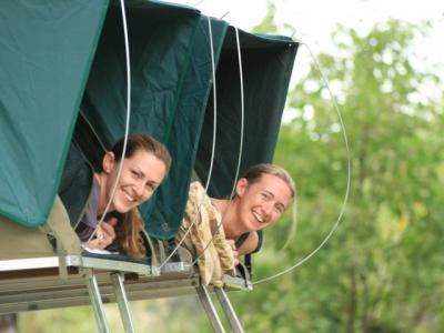Camping im Dachzelt