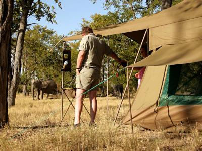 Erleben Sie die afrikanischen Wildnis hautnah bei Ihrer mobilen Camping Safari in Botswana