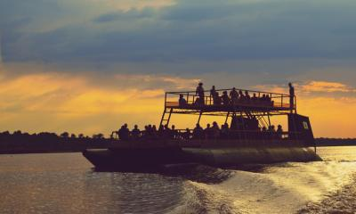 Bootsfahrt auf dem Chobe River im Sonnenuntergang (Sunsetcruise)
